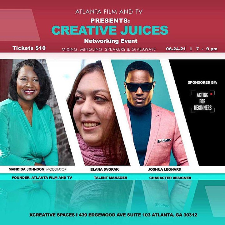 Atlanta Film and TV Presents: Creative Juices Networking Event image