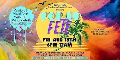 Pop Up Fete tickets