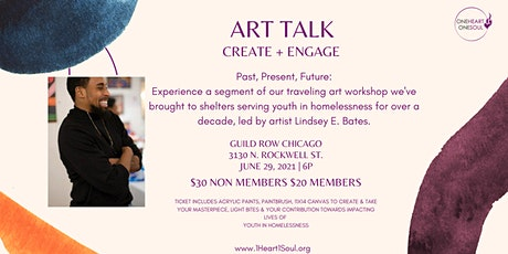 Art Talk, Create + Engage.  An interactive fundraiser tickets