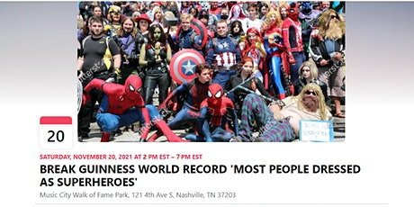 BREAK GUINNESS WORLD RECORD 'MOST PEOPLE DRESSED AS SUPERHEROES' tickets