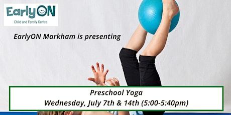 Preschool Yoga tickets