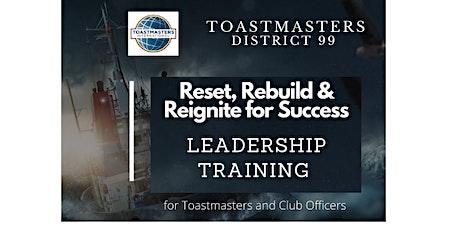 Toastmasters D99 Leadership Training ( Sat.10-07-2021) tickets