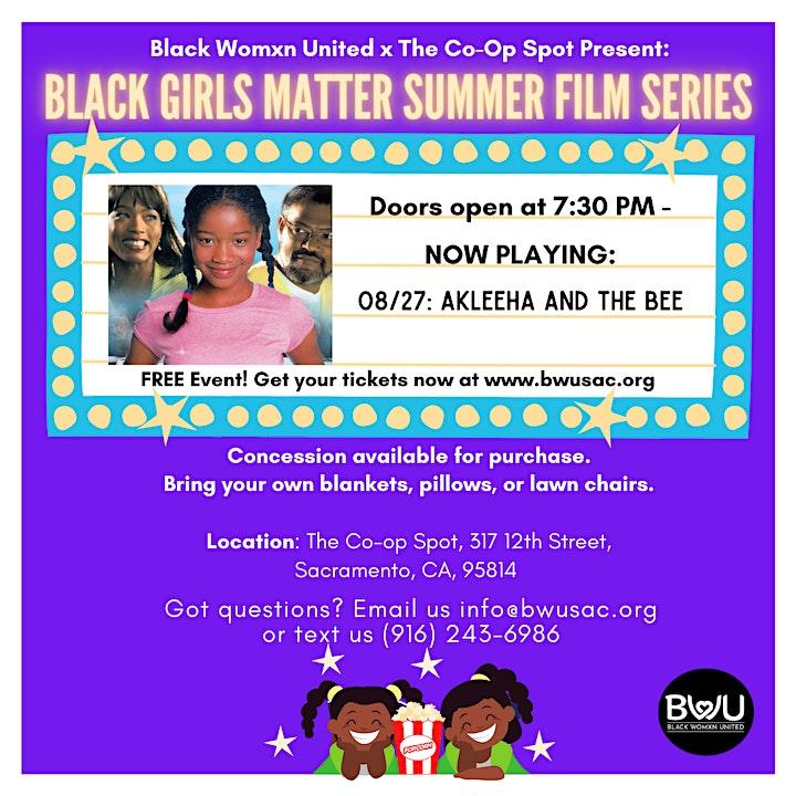 Black Girls Matter Summer Film Series image