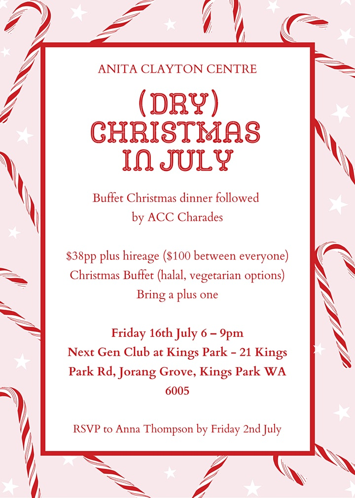 (Dry) Christmas in July image