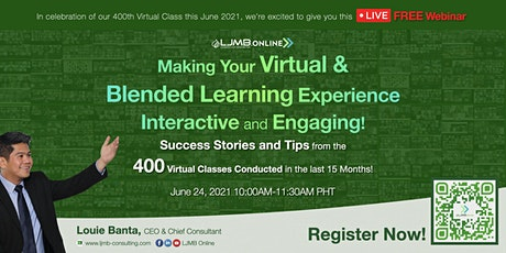 Making Your Virtual & Blended Learning Experience Interactive and Engaging entradas