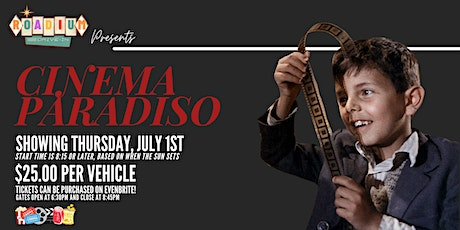 CINEMA PARADISO  - Presented by The Roadium Drive-In tickets