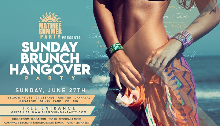 Sunday 27 • Matinee Brunch Party •  Free Entrance • Carnival + Live Music image