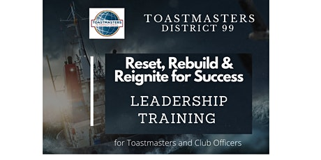 Toastmasters D99 Leadership Training ( Mon.26-07-2021) tickets