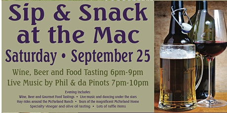 Sip & Snack at the Mac tickets