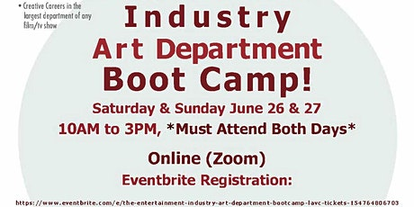 The Entertainment Industry Art Department Bootcamp (LAVC) tickets