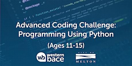 Advanced Coding Challenge (Ages 11-15) – Programming using Python biglietti