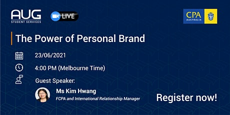 [AUG Talk]  - The Power Of Personal Brand by CPA Australia! tickets