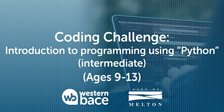"""Coding challenge (Ages 9-13) – Intro to programming using """"Python"""" tickets"""