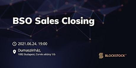 BSO Sales Closing tickets