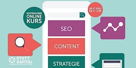 Effektive SEO- und Content-Marketing-Strategien entwickeln Tickets