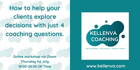 How to help your clients explore decisions with just 4 coaching questions biglietti