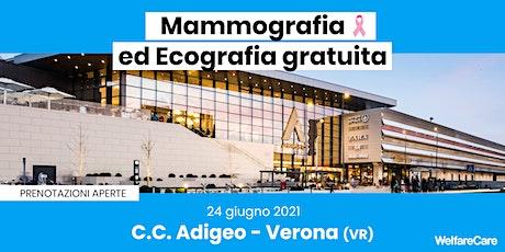 Mammografia ed Ecografia Gratuita - C.C. Adigeo - Verona (VR) biglietti