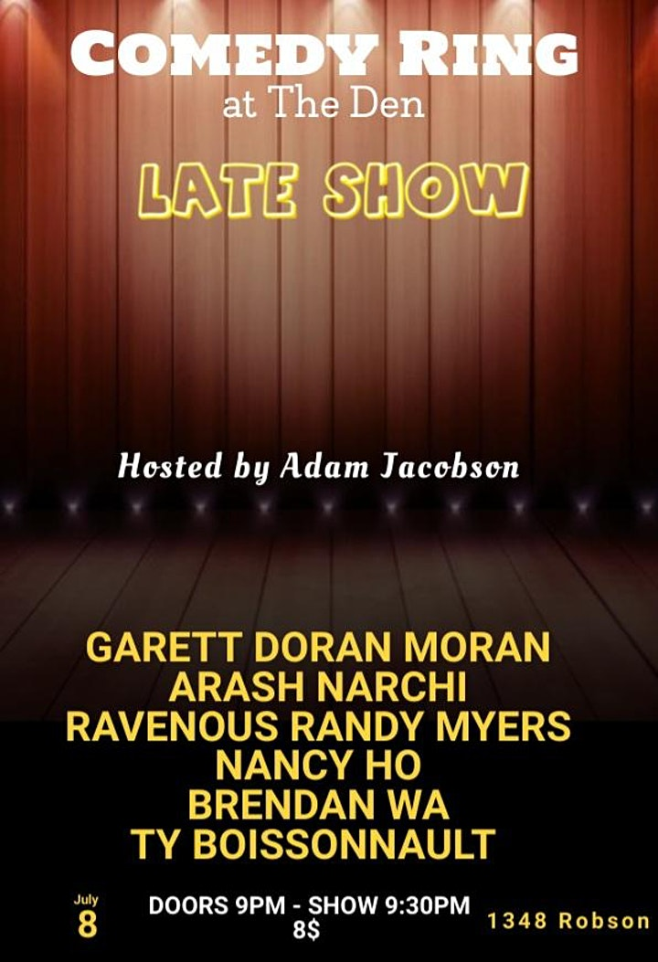 COMEDY Ring at The Den LATE SHOW image