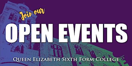 Queen Elizabeth Sixth Form College - Open Event (Saturday 26th June - PM) tickets