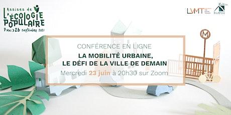 Webconférence sur la mobilité urbaine le 23 juin billets
