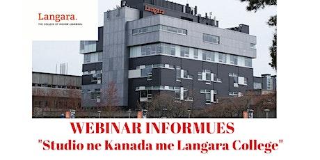 Copy of Studio ne Kanada me Langara College! 28 Maj, ora 16:00 tickets
