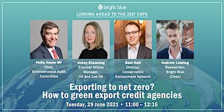 Exporting to net zero? How to green export credit agencies (ECAs) tickets