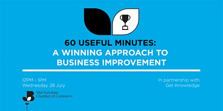 60 Useful Minutes - A Winning Approach To Business Improvement Tickets