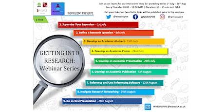 INSPIRE/SMT Summer Research Webinar Series tickets