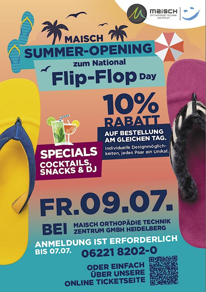 Maisch Summer-Opening / National Flip-Flop Day: Bild