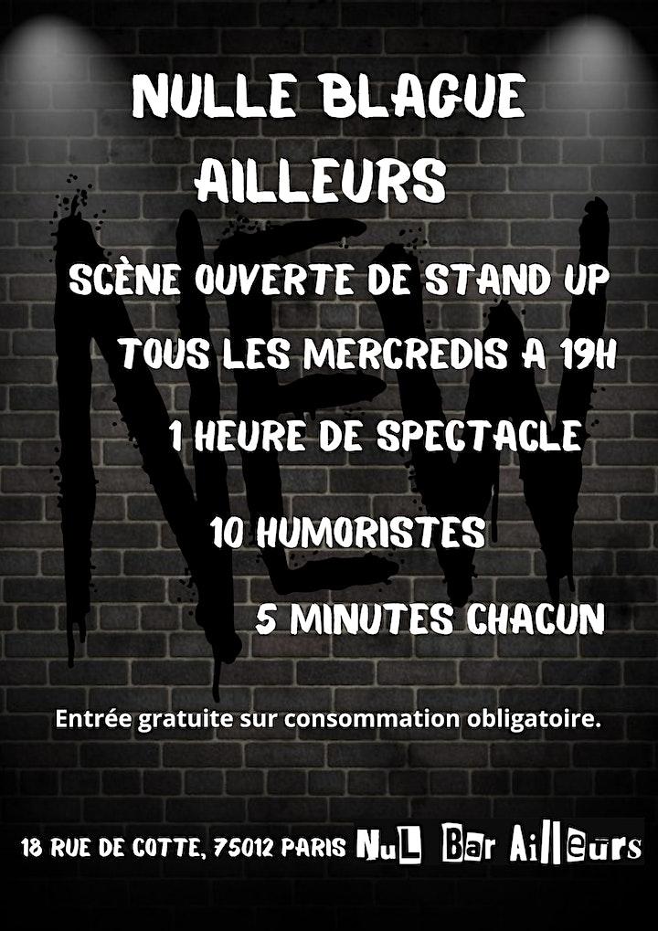 Image pour Nulle blague ailleurs open mic