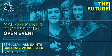 Management and Professional Open Event - Worcester Campus tickets