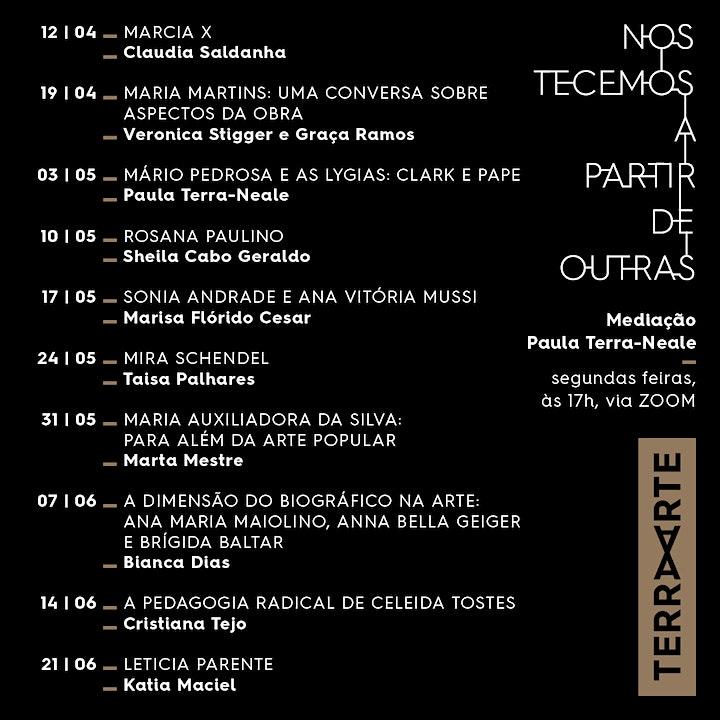 Imagem do evento LETICIA PARENTE; Katia Maciel /Artistas Brasileiras Seminais