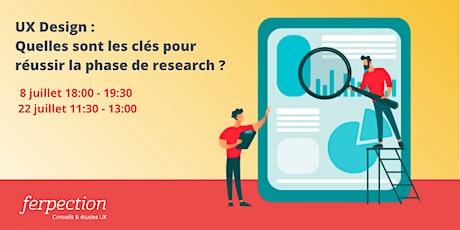 UX Design : Quelles sont les clés pour réussir la phase de research ? billets