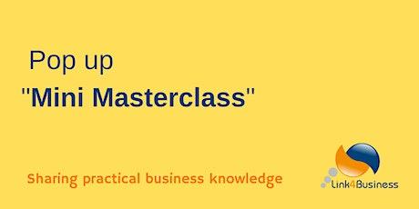 Pop Up Mini MasterClass - Twitter tickets