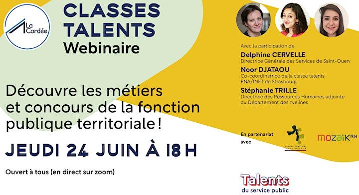 """Image pour Webinaire """"prépa talents"""" métiers et concours de la territoriale"""