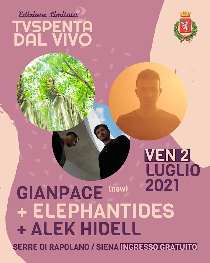 Immagine TVSpenta dal vivo - Edizione Limitata 2: Alek Hidell+Elephantides+Gianpace