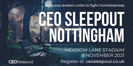 CEO Sleepout - Nottingham tickets
