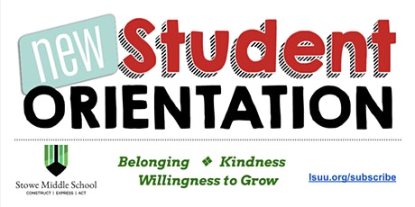 New Student Orientation at Stowe Middle School tickets