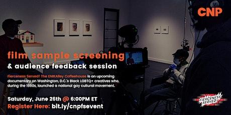 """Fierceness Served!"" Film Work Sample Screening & Evaluation tickets"