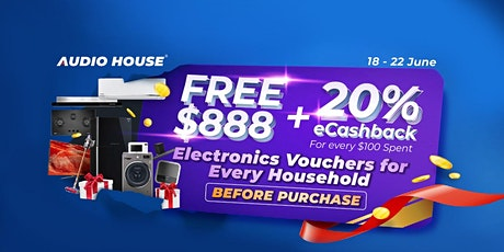 Audio House FREE $888 Vouchers Giveaway tickets