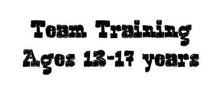 Team Training Ages 13-17 Years tickets