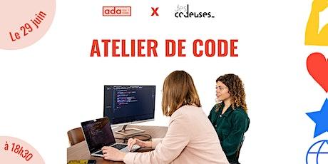 1h pour apprendre les bases du code avec Ada Tech School x Descodeuses billets