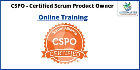CSPO- Certified Scrum Product Owner Online Training tickets