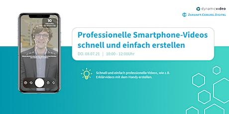 Professionelle Smartphone-Videos schnell und einfach erstellen Tickets