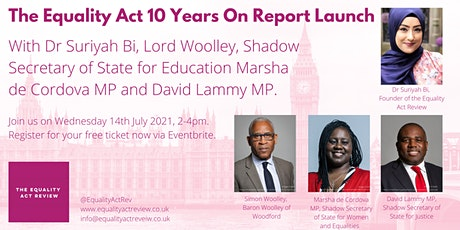 The Equality Act 10 Years On Report Launch tickets