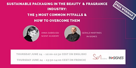 FREE WEBINAR: SUSTAINABLE PACKAGING IN THE BEAUTY & FRAGRANCE INDUSTRY tickets