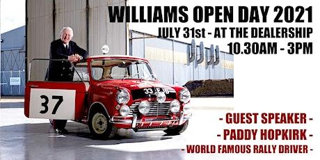 Williams Open Day 2021 (Guest Speaker Paddy Hopkirk) tickets