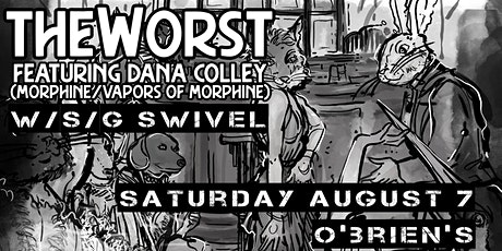 TheWorst ft Dana Colley (Morphine, Vapors Of Morphine) w/s/g Swivel tickets