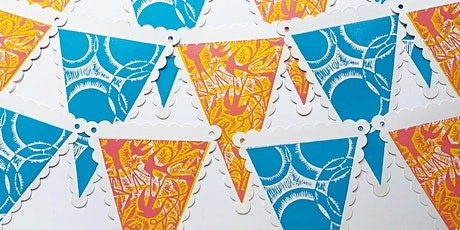 Introduction to Relief Print - Create your own 'Summer Bunting' tickets