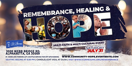 Remembrance, Healing and Hope tickets